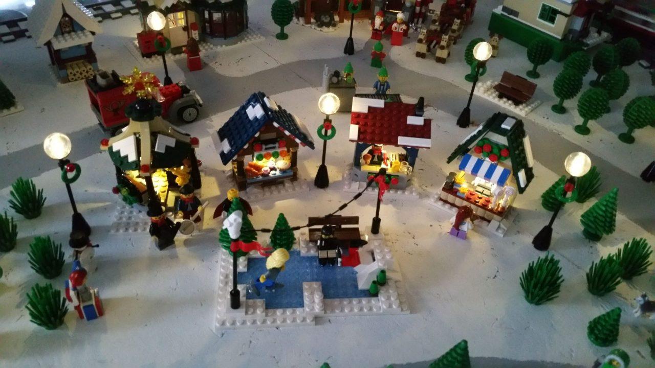 Kerstdorp montage